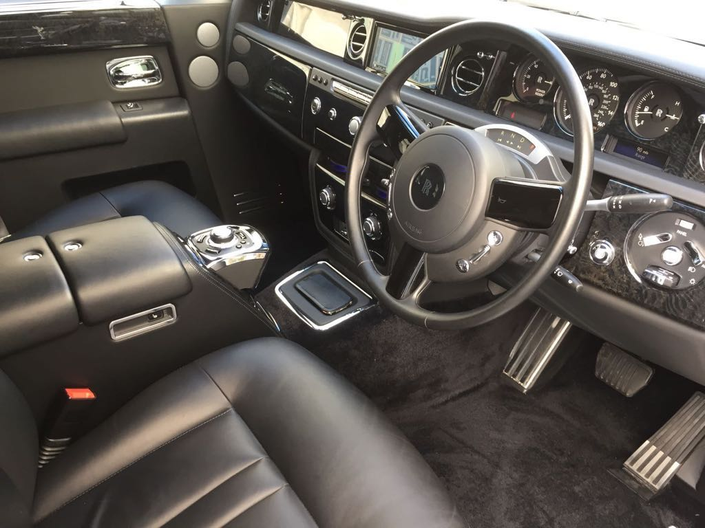 Baby Bentley limo interior
